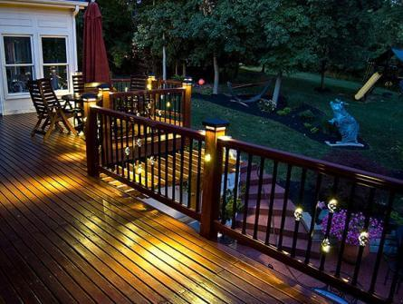 Outdoor Lighting Services   Deck Lighting Services