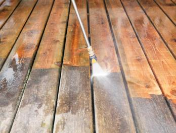 Deck Staining Process - Deck Pressure Washing Process